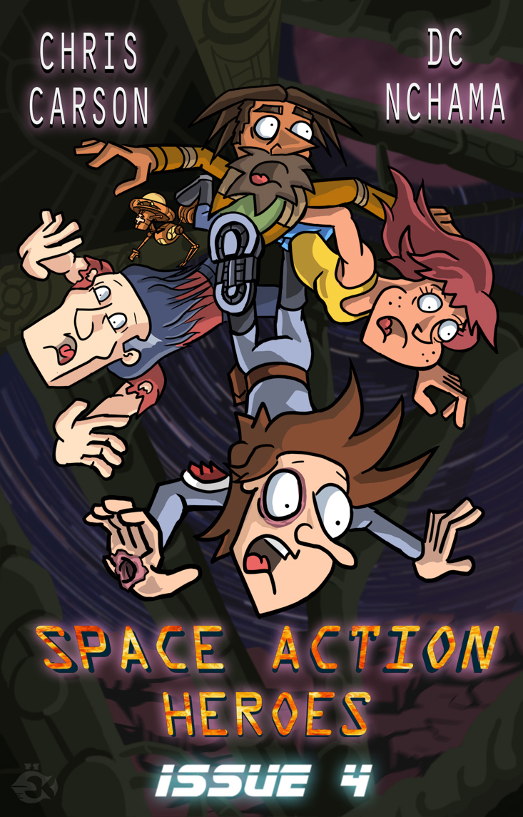 Space Action Heroes #4 - Cover